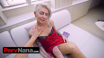 Sexy Ass Granny Is Wearing No Panties And Sucks Her Step Grandsons Big Dick Until He Forgets His Ex GF 15 min
