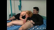 French redhead slut anal fucked in a hotel room