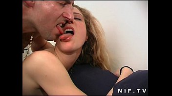 Naughty french blonde sodomized and facialized