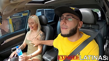 Patricia Acevedo sucks a dick in teh car and then gets fucked by huge dick 11 min
