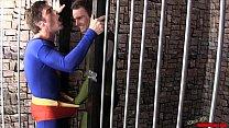 Superman Submits 2 CBT HANDJOB LYCRA SPANDEX