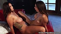 StepSiblings Busty babes fingering each other