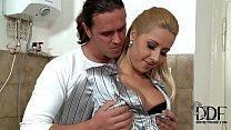Sexy & horny blonde babe Daria Glower sucking cock for cum