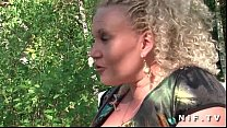 BBW french mature gets banged outdoor