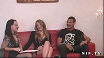 young french slut gets hard anal fucked in threesome