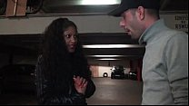 Amateur French back slut hard sodomized in public parking