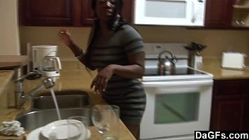 DAGFS - A Kitchen Fuck For This Big Assed Ebony Gal 5 min
