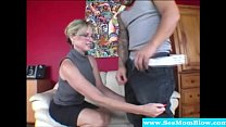 Cougar giving head and teaching teen