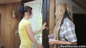 Lesbo Seducing Hot Blonde Fundraiser