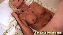 fake tit granny pounding guy