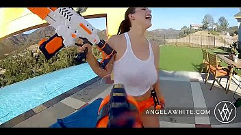 ANGELA WHITE - Angela White and Dani Daniel Fuck Each Other Outside