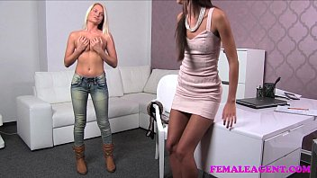 FemaleAgent Incredible blonde strikes a sexual deal with insatiable agent