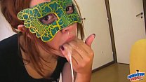 Redhead Teen Gag - Deepthroat - Drool Swallow - Oh Yeah!