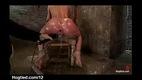 Bound babe to a chair with perfect ass toyed and squirts   XVIDEOSCOM