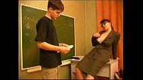 Russian teacher and boy