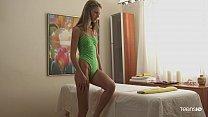 Beautiful teen massage sex with skinny Anjelica 5 min