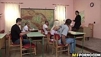 Teacher and classroom orgy Jessica Moore, Lisa Sparkle, Maddy, Mandy Bright 1