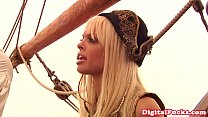 Pirate babe pleasing captains cock