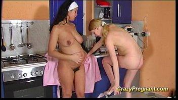 cute Lesbian pregnant girls