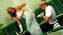 Kinky Fun With An Bath Full Of Slime