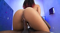 Hot black chick gets fucked by a big black cock