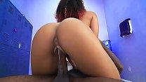 Hot black chick gets fucked by a big black cock - black porn