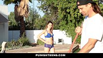 PunishTeens - Spoiled Brat (Kinsley Eden) gets Fucked By Daddy's Workers
