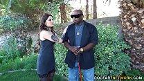 Horny Tattooed Vanessa Vega Wants Anal With A Blind Black Man