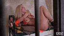 Gorgeous Blonde Nesty gets Tied up and Femdom Fucked