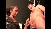 Strange BDSM play where naked dude