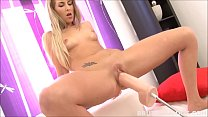 Tight blonde Jenny Simons gaped by brutal dildo machine
