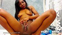 Maria Anal - Flirt4Free - Sexy Ebony Babe Explores Both Her Tight Holes