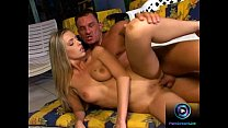 Gorgeous blonde moans hard enjoying a hard dick inside her