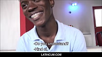 Young Black Amateur Straight Boy With Braces From Jamaica Fucks Gay Latino Filmmaker For Cash POV