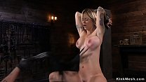 Blonde pussy zappered and toyed