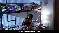 FamilyStrokes - (Violet Rain) Fucks Her Younger Stepbro In her Dorm