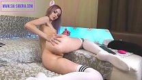 SIA SIBERIA very hot Russian Teen Cam Girl pleasures herself