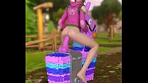 Fortnite zoey ridding a llama