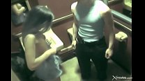 Wife with gorgeous body cheats in toilet during a party