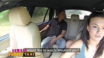 Female Fake Taxi Expert pussy licking makes sexy czech driver cum