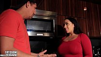 Indian Latina Maid makes up for not cooking
