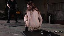Butt plugged slave gets anal training
