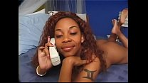 Naughty ebony cuties Kenya and Kitten enjoy having some going way down South in Dixie and playing with glass dildo