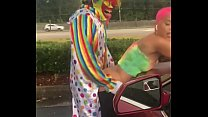 Gibby The Clown fucks Jasamine Banks outside in broad daylight