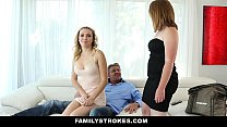 FamilyStrokes - Daddy fucks step daughter (Cali Sparks) every time mommy leaves