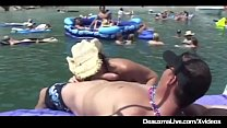 Busty Cougar Deauxma Muff Dives At Texas Swinger Boat Party!