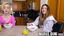 Share My BF - Snowballing Stepsister and GF starring  Levi Cash and Eva Lovia and Haley Reed