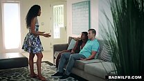 BadMilfs - Ebony Milf Fucks Son In Law