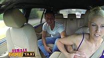 Female Fake Taxi Big tits blonde cabbie milf fucks young stud on backseat