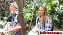 Daughters Alyssa Cole and Haley Reed get pussies hammered in hot fourd-